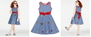 Rare Editions Big Girls Embroidered Cotton Fit & Flare Dress, Created for Macy's