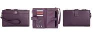 Giani Bernini Softy Leather Double Zip Tech Wristlet, Created for Macy's