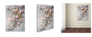 "Trademark Global Wanda Mumm 'Doves And Magnoilas' Canvas Art - 32"" x 24"" x 2"""
