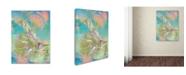 "Trademark Global MusicDreamerArt 'Pastel Warrior' Canvas Art - 32"" x 24"" x 2"""