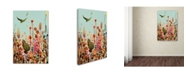 """Trademark Global Sylvie Demers 'Learning To Fly (Blue Sky)' Canvas Art - 24"""" x 16"""" x 2"""""""