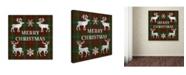 "Trademark Global Jean Plout 'Merry Christmas Plaid 7' Canvas Art - 35"" x 35"" x 2"""