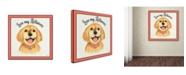 """Trademark Global Jean Plout 'Golden Retriever 1' Canvas Art - 35"""" x 35"""" x 2"""""""