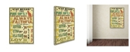 """Trademark Global Jean Plout 'Cat Rules' Canvas Art - 32"""" x 22"""" x 2"""""""