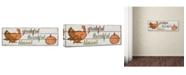 "Trademark Global Jean Plout 'Thanksgiving 8' Canvas Art - 47"" x 16"" x 2"""