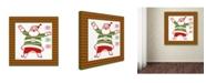 "Trademark Global Jean Plout 'Ugly Christmas Sweater Santa 2' Canvas Art - 24"" x 24"" x 2"""