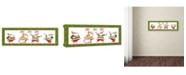 "Trademark Global Jean Plout 'Ugly Christmas Sweater Santa 5' Canvas Art - 10"" x 32"" x 2"""