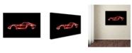 "Trademark Innovations Octavian Mielu 'Ferrari 250 GTO' Canvas Art - 32"" x 22"" x 2"""