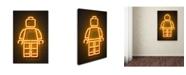 "Trademark Innovations Octavian Mielu 'Minifig' Canvas Art - 19"" x 12"" x 2"""