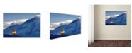 "Trademark Global Mike Jones Photo 'Balloon Fiesta Snow' Canvas Art - 47"" x 30"" x 2"""