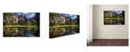 "Trademark Global Mike Jones Photo 'Yosemite Falls Reflection' Canvas Art - 32"" x 22"" x 2"""