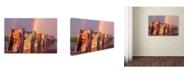 "Trademark Global Mike Jones Photo 'Cadillac Ranch Rainbow' Canvas Art - 24"" x 16"" x 2"""
