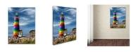 "Trademark Global Mike Jones Photo 'Rainbow Lighthouse North' Canvas Art - 19"" x 14"" x 2"""