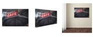 """Trademark Global Moises Levy 'Umbrella Cafe' Canvas Art - 47"""" x 30"""" x 2"""""""