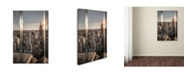 "Trademark Global Moises Levy 'New York Glass' Canvas Art - 32"" x 22"" x 2"""