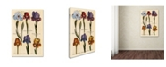 "Trademark Global Vintage Lavoie 'Merian MattheusIrises' Canvas Art - 47"" x 30"" x 2"""