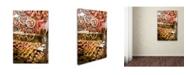 "Trademark Global Robert Harding Picture Library 'Market Scene 100' Canvas Art - 32"" x 22"" x 2"""