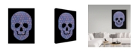 "Trademark Global Summer Tali Hilty 'Purple Skull' Canvas Art - 19"" x 14"" x 2"""