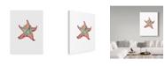 "Trademark Global Jessmessin 'Starfish Wreath' Canvas Art - 24"" x 18"" x 2"""