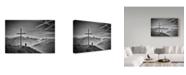 "Trademark Global Vito Guarino 'Where The Sky Ends' Canvas Art - 47"" x 2"" x 30"""