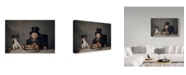 "Trademark Global Monika Vanhercke 'The Dinner' Canvas Art - 24"" x 2"" x 16"""