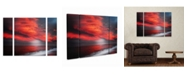 """Trademark Global Philippe Sainte-Laudy 'The Great Gig In The Sky' Multi Panel Art Set Large 3 Piece - 44"""" x 34"""" x 2"""""""