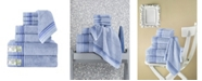 Makroteks Classic Turkish Towels Dimora 8 Piece Luxury Bamboo Series Towel Set