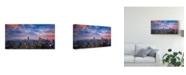 """Trademark Global Michael Zheng 'Top Of The Rock' Canvas Art - 32"""" x 2"""" x 16"""""""