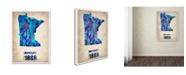 "Trademark Global Naxart 'Minnesota Watercolor Map' Canvas Art - 19"" x 14"" x 2"""