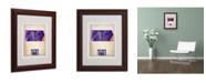 """Trademark Global Naxart 'Kansas Watercolor Map' Matted Framed Art - 11"""" x 14"""" x 0.5"""""""