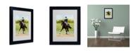 "Trademark Global Michelle Moate 'Horse of Sport IX' Matted Framed Art - 14"" x 11"" x 0.5"""