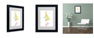 "Trademark Global Jennifer Lilya 'Sunny Day Dreaming' Matted Framed Art - 14"" x 11"" x 0.5"""