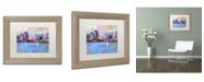 "Trademark Global Richard Wallich 'Boston 3' Matted Framed Art - 14"" x 11"" x 0.5"""