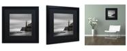 """Trademark Global Moises Levy 'Morro Lighthouse' Matted Framed Art - 16"""" x 16"""" x 0.5"""""""