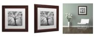 """Trademark Global Moises Levy 'Lightning Tree II' Matted Framed Art - 11"""" x 11"""" x 0.5"""""""