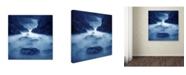 """Trademark Global Moises Levy 'Tormenta en Ixtapa Blue' Canvas Art - 18"""" x 18"""" x 2"""""""