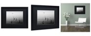 """Trademark Global Moises Levy '4 Herons and Boat' Matted Framed Art - 16"""" x 20"""" x 0.5"""""""