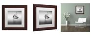"Trademark Global Moises Levy 'Barco Hundido' Matted Framed Art - 11"" x 11"" x 0.5"""
