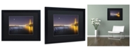 "Trademark Global Moises Levy 'Golden Gate Pier and Stars' Matted Framed Art - 16"" x 20"" x 0.5"""
