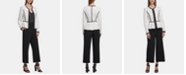 DKNY Quilted Zip-Front Peplum Jacket, Dot-Print Tank Top & Wide-Leg Cropped Pants
