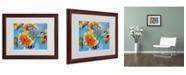"""Trademark Global Richard Wallich 'Sun 5' Matted Framed Art - 16"""" x 20"""" x 0.5"""""""