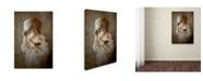 "Trademark Innovations Olga Mest 'Seeing Through The Mask' Canvas Art - 19"" x 12"" x 2"""
