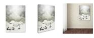 "Trademark Global David Senechal 'Larguer Les Voiles' Canvas Art - 47"" x 35"" x 2"""