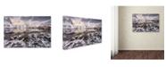 "Trademark Global David Martin Castan 'Ice Cracking' Canvas Art - 19"" x 12"" x 2"""