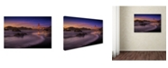 "Trademark Global Mike Leske 'Golden Gate Bridge Fading Daylight' Canvas Art - 24"" x 16"" x 2"""