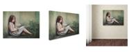 "Trademark Global Monique 'Behind The Corner' Canvas Art - 47"" x 35"" x 2"""