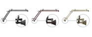 """Rod Desyne Trumpet 13""""/16"""" Corner Window Double Curtain Rod 66""""-120"""""""