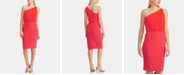 Lauren Ralph Lauren Chiffon Jersey One-Shoulder Dress
