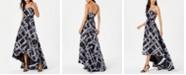 Calvin Klein Strapless High-Low Gown