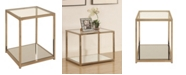 Coaster Home Furnishings Crosby End Table with Mirror Shelf